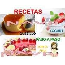 guias tortas frias quesillos y yogurt en potes plasticos
