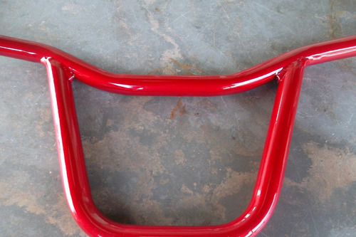 guidão ferro  vermelho  verniz tipo cassola