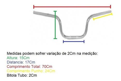 guidão moto honda fan 125 / 150 2014 cromado s/ fixa peso
