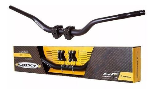 guidão moto oxxy fat bar alto preto + adaptador motocross