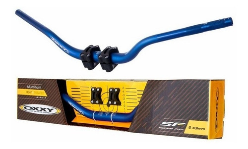 guidão oxxy com adaptador super fat bar alto cores motocross