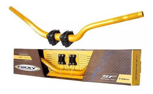 guidão oxxy super fat bar hornet xj6 + adaptador dourado