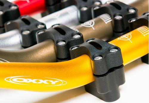 guidão oxxy super fat bar hornet xj6 + adaptador preto