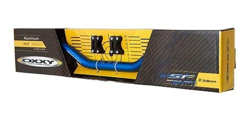 guidão p/ moto oxxy super fat bar alto off road + adaptador