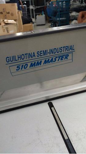 guilhotina de facão semi industrial gsi 510mm master lassane