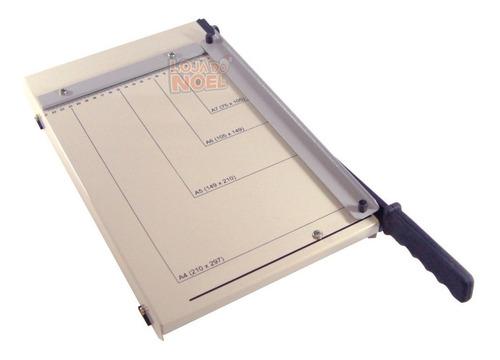 guilhotina de mesa em aço 30 cm p/ 15 fls papel a4 c/ prensa