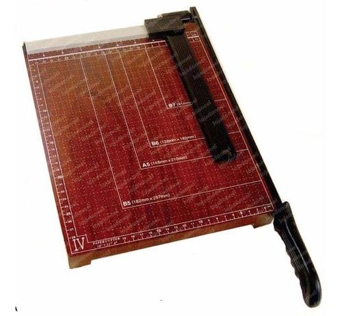 guilhotina em madeira papel a4 c/30cm trava p/ até 10 folhas