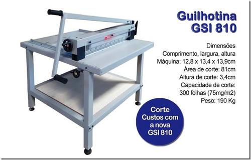 guilhotina industrial gsi 810mm 300 folhas