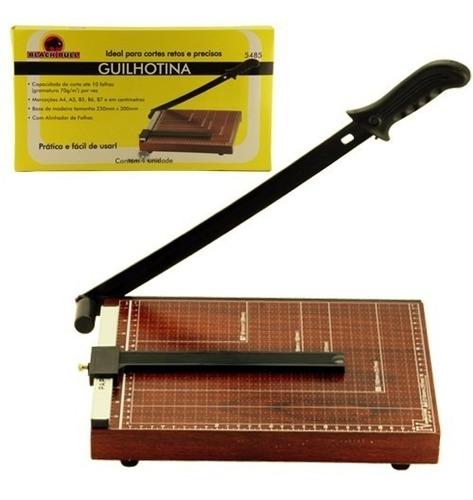 guilhotina máquina cortador papel em madeira com alinhador
