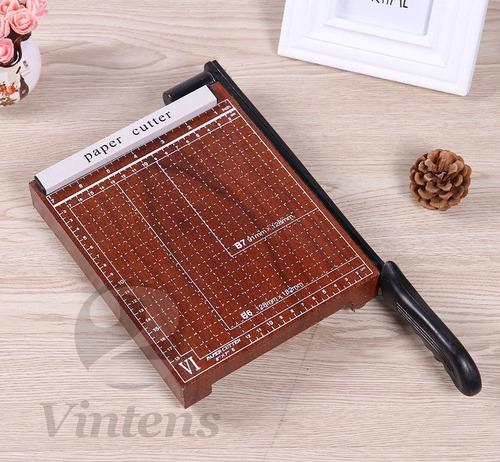 guilhotina mesa madeira 30cm com trava até 10 folhas papel