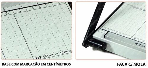 guilhotina papel a4 c/ 30 cm p/ até 10 folhas c/ travamento