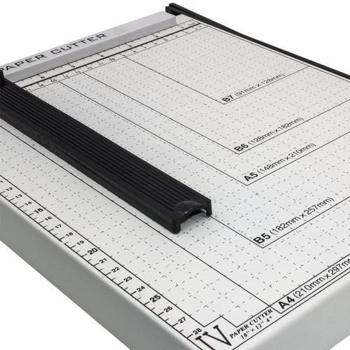 guilhotina papel corte reto preciso base metalica