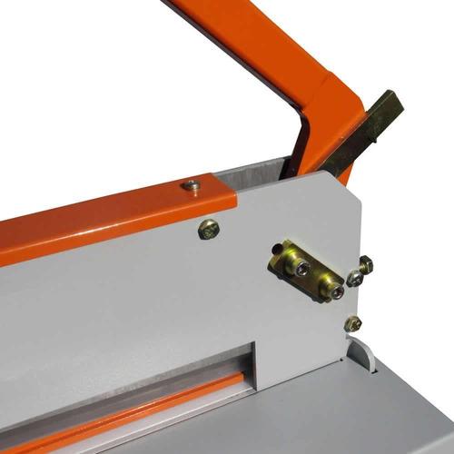 guilhotina semi industrial std 34cm de corte 300fls com mesa