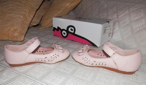 guillerminas gacela cuero rosadas- croco kids talle 25