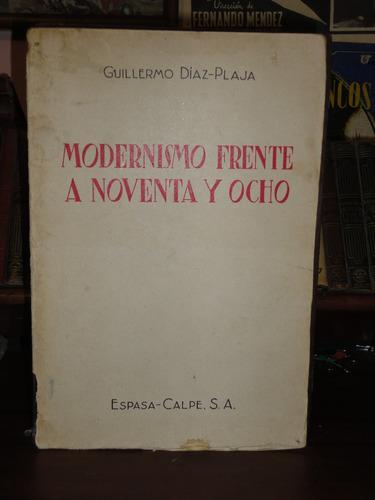 guillermo díaz-plaja modernismo frente a noventa y ocho