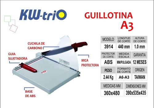 guillotina a3 kwtrio s/ 182
