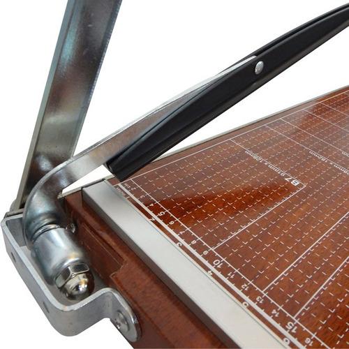 guillotina cizalla papel rafer corte 46cm a3+ base de madera