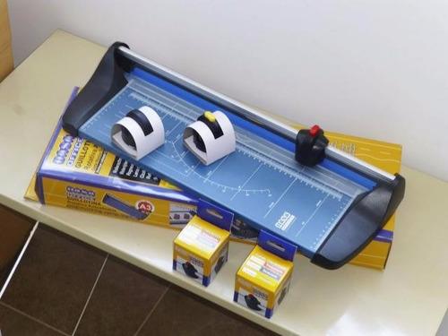 guillotina cizalla rotativa office a3 + troquelado + base