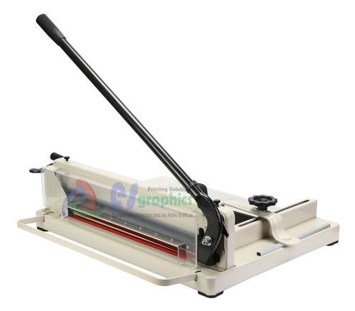 guillotina cortadora 43cm luz de corte uso rudo 400 hojas.