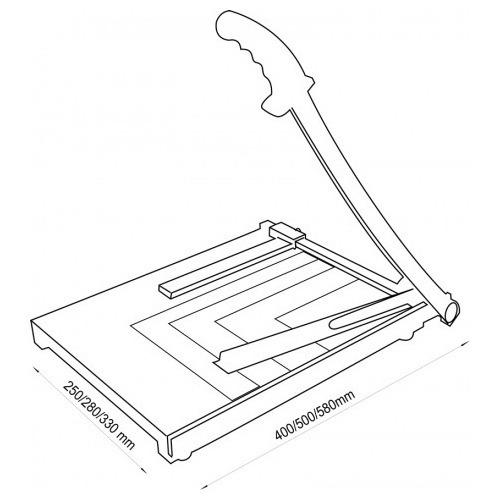 guillotina dasa z3 base de madera a palanca a3 cizalla
