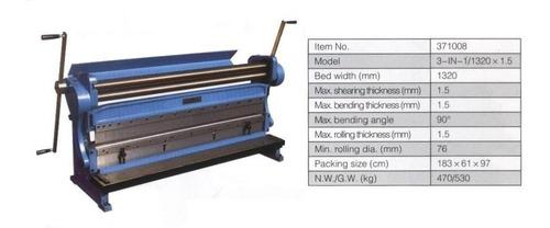guillotina dobladora cilindradora 1.32mts 1320mm codigo 1854