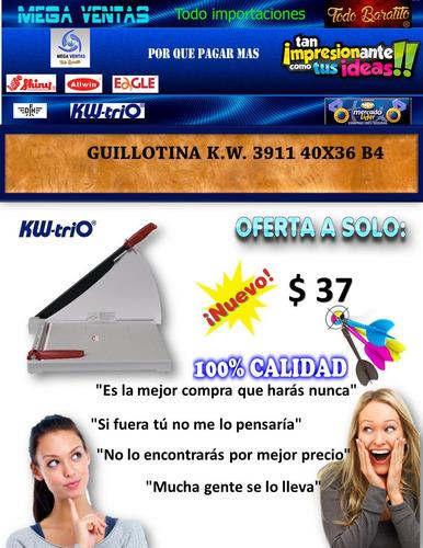 guillotina k.w. 3911 40x36 b4 la mejor marca mundo