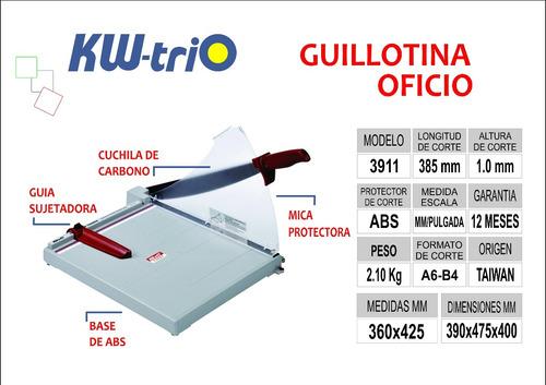 guillotina oficio kwtrio 3911 s/ 160