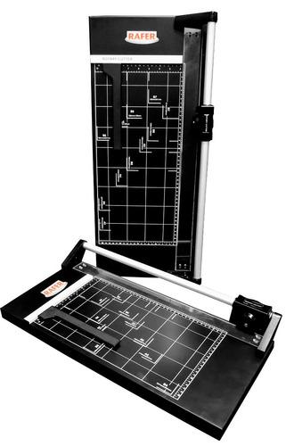 guillotina papel rafer rotativa oficio metalica pro + regalo