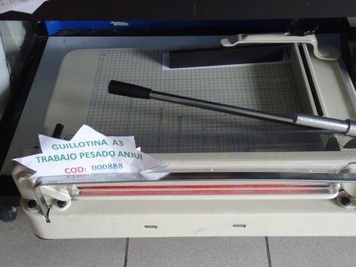 guillotina para papel anhui semi industrial 250h a4