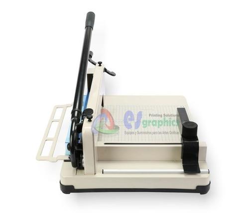 guillotina profesional cortadora de papel 31cm. 400 hojas.