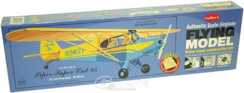 guillows avion piper supercub 95 armar madera balsa 1/18