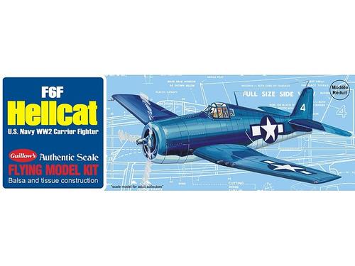 guillow´s  f6f hellcat avión de madera de balsa para armar