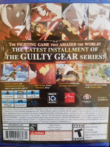 guilty gear xrd revelator ps4 sellado delivery stock ya