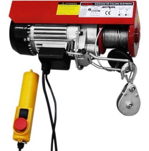 guincho de coluna elétrico h-a 105 300/600kg 220v motomil