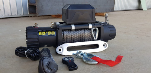 guincho elétrico 12000 13000lbs winch (g2) -cabo sintético