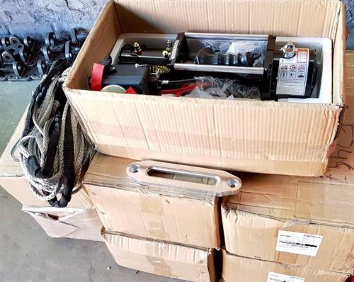 guincho elétrico 12000/13000lbs winch com cabo kevlar