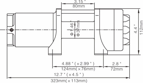guincho eletrico 12v 1134kg p/jipes c/ nota fiscal - dsr!
