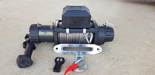 guincho elétrico 13000lbs winch (novo modelo) - cabo kevlar
