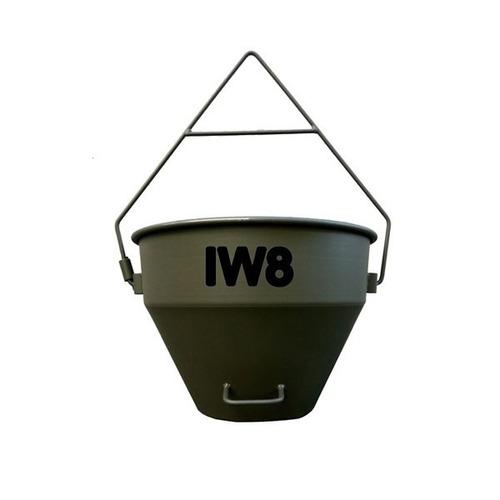 guincho elétrico 220v 400kg + balde 50 l + gaiola p/ blocos