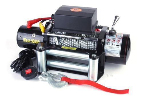 guincho elétrico reboque offroad 9000lbs 12v com controle c/