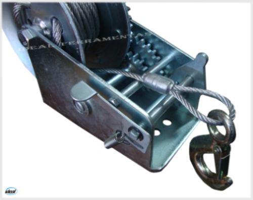 guincho manual carretilha 1100kg carreta barco lancha jet-sk