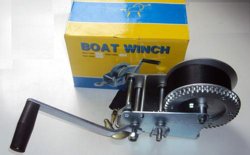 guincho nautico manual carreta barcos lancha jet ski 1360 kg