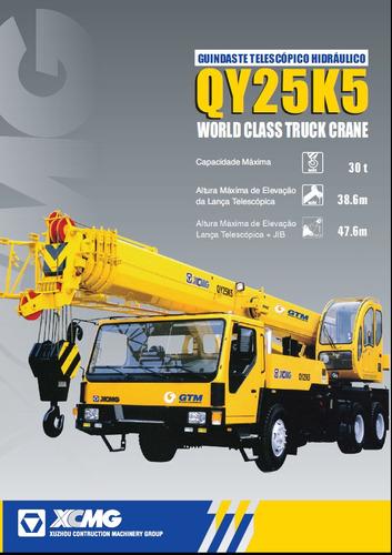 guindaste xcmg qy25k5 para 30 ton, ano 2007/07 - único dono