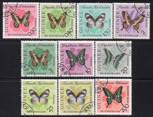 guiné - borboletas - 1963