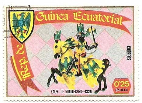 guinea ecuatorial dos sellos caballeros antiguos año1978