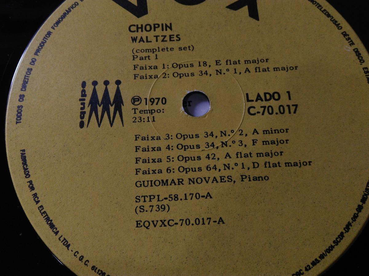 Guiomar Novaes Chopin Waltzes Complete - Lp Vinil
