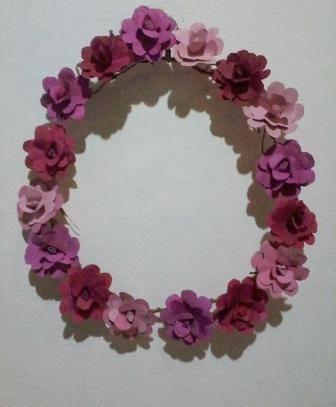 guirlanda decorativa de flores artificiais, coroa de flores