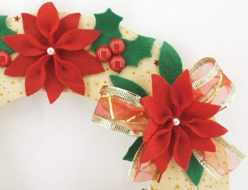 Enfeite De Natal ~ Guirlanda Natalina Enfeite Natal Papai Noel Feltro Gl006 R$ 179,99 em Mercado Livre
