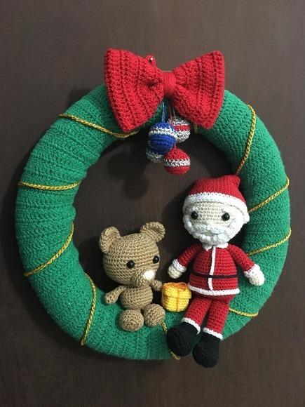 Amigurumi Santa Claus Crochet Pattern And Reindeer Toy Crochet ... | 580x435