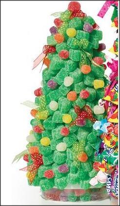 guirlandas de natal feitas de bombons arvores